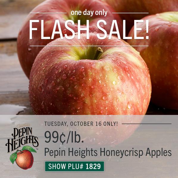 99¢ Pepin Heights Honeycrisp Apples