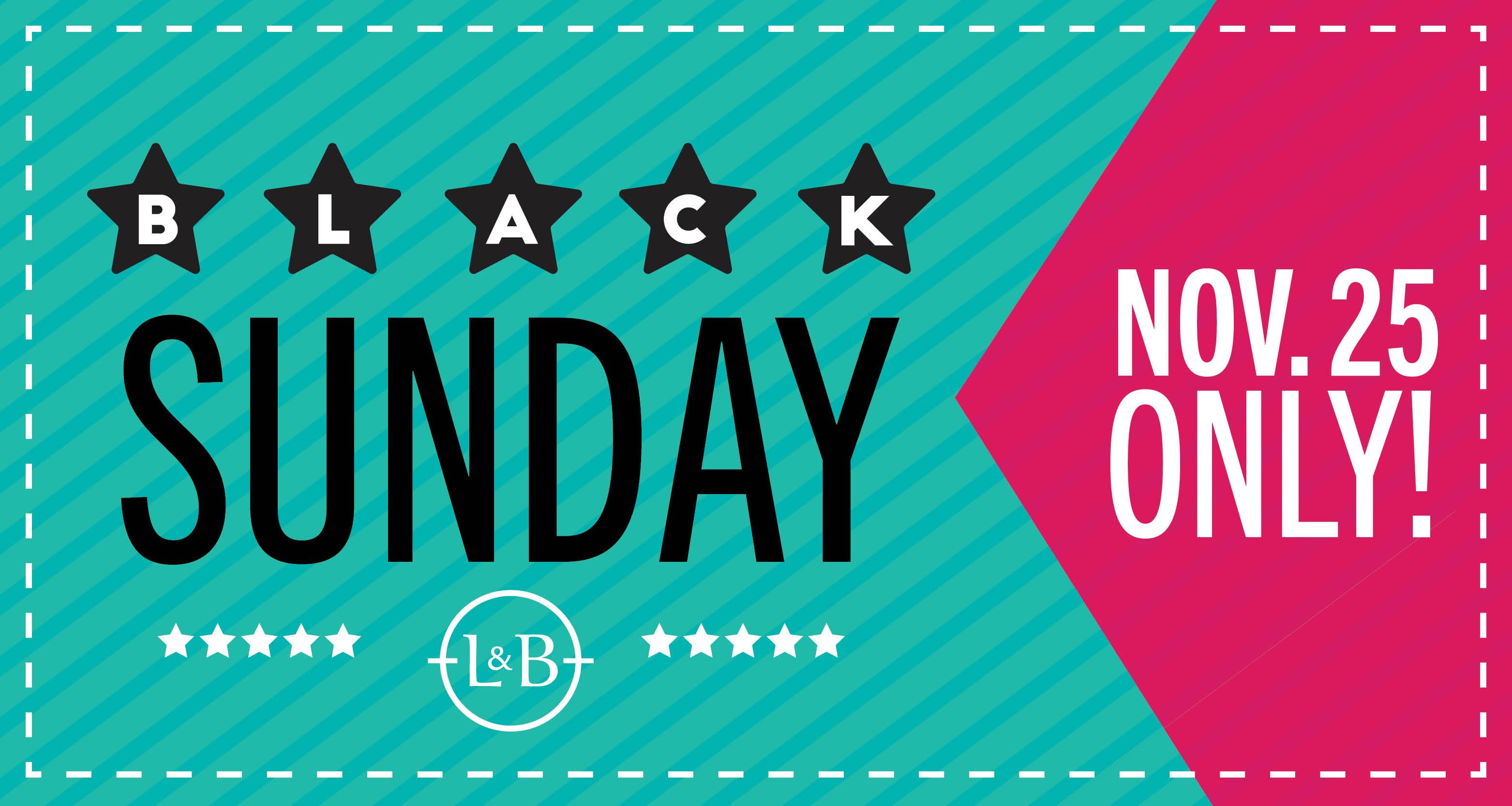 Black Sunday savings in Wines & Spirits! Sunday, November 25 only!