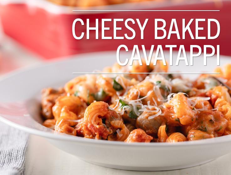 Cheesy Baked Cavatappi