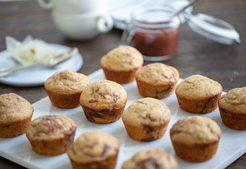 Rhubarb Muffins with Balsamic Rhubarb Jam