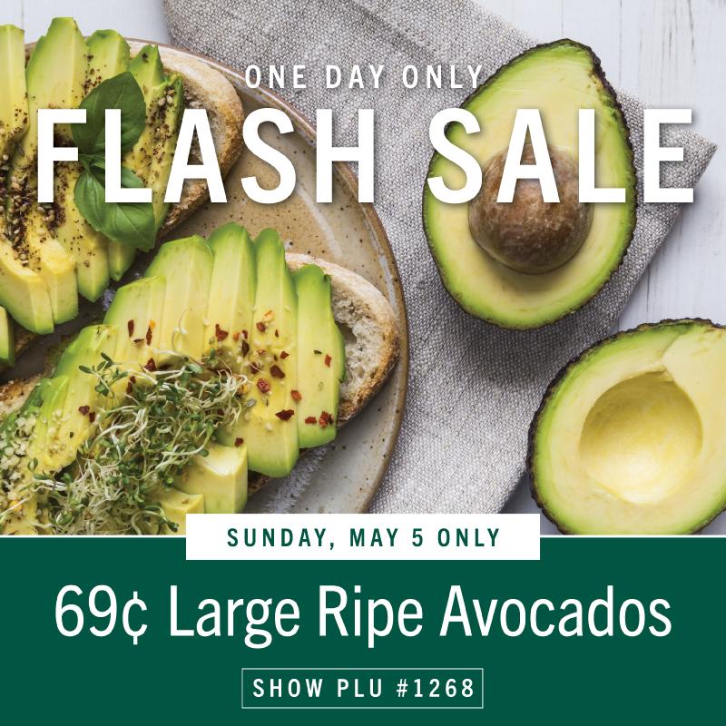 69¢ Large Ripe Avocados