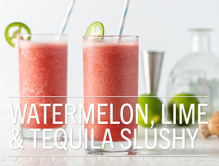 Watermelon Lime & Tequila Slushy