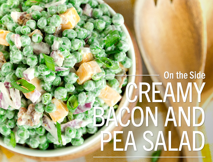 Creamy Bacon & Pea Salad