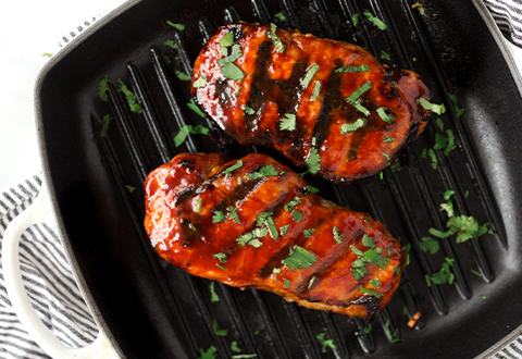 KOREAN GLAZED PORK CHOPS