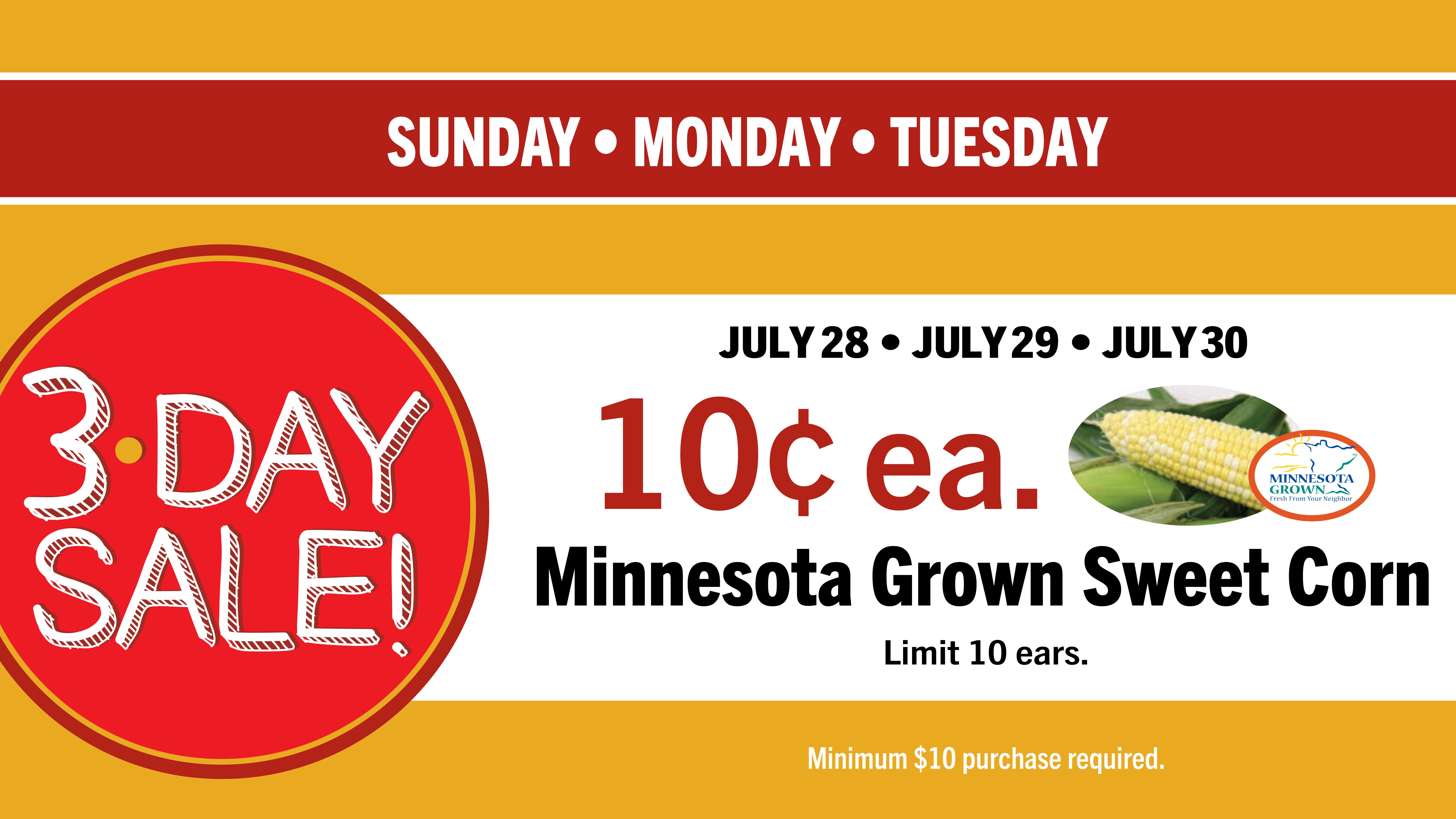 Sunday, July 28 – Tuesday, July 30