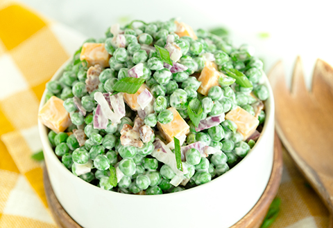Creamy Bacon & Pea Salad