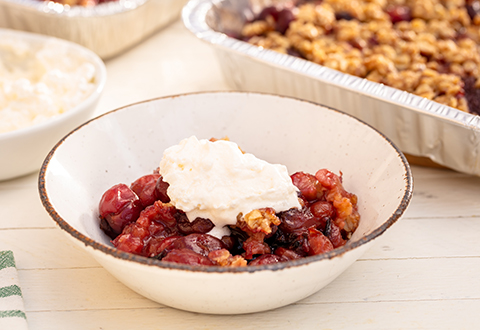 Grilled Cherry Crisp