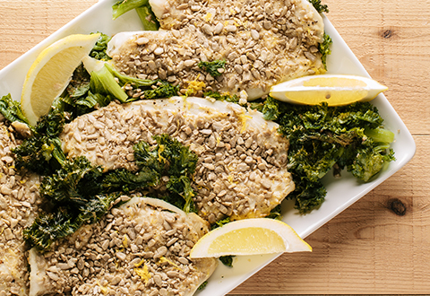 Sunflower Seed Crusted Tilapia