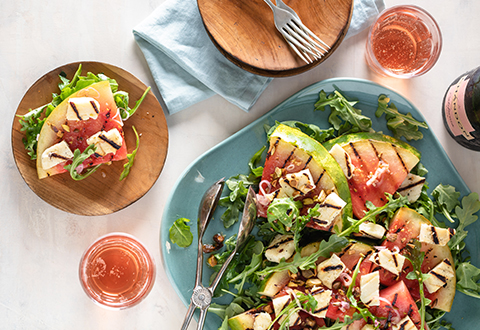 Grilled Watermelon & Halloumi Salad
