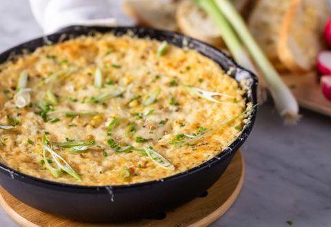 Grilled Corn & Ricotta Dip