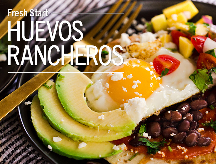 Huevos Rancheros with Mango Salsa