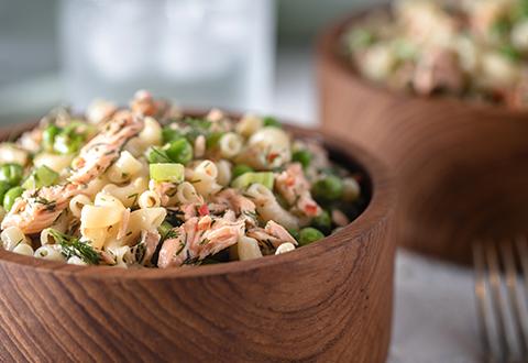 Roasted Salmon Pasta Salad
