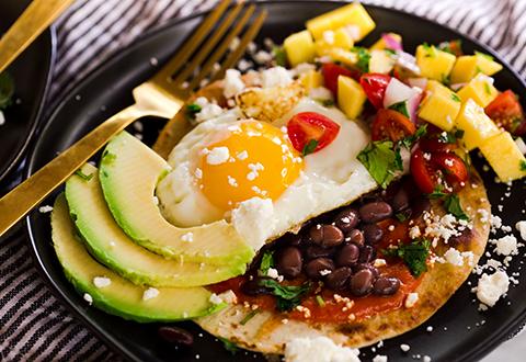 Huevos Rancheros with Mango Salsa