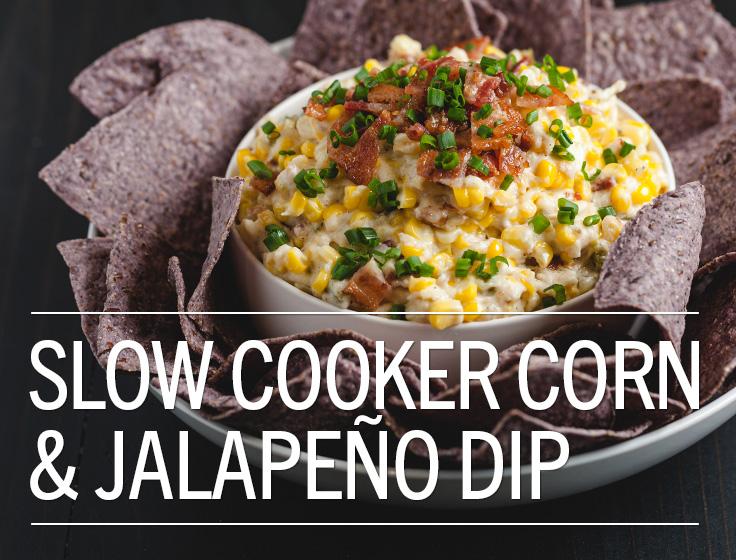 Slow Cooker Corn & Jalapeno Dip