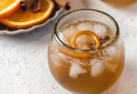 Apple Cider & Bourbon Punch