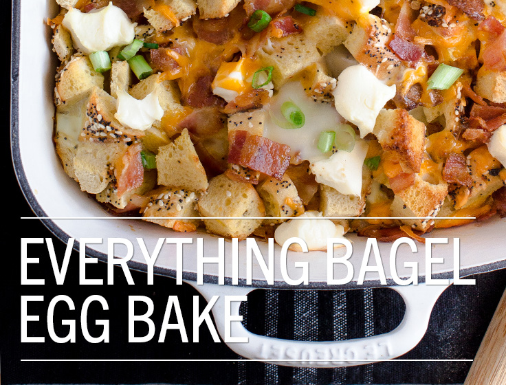 Everything Bagel Egg Bake