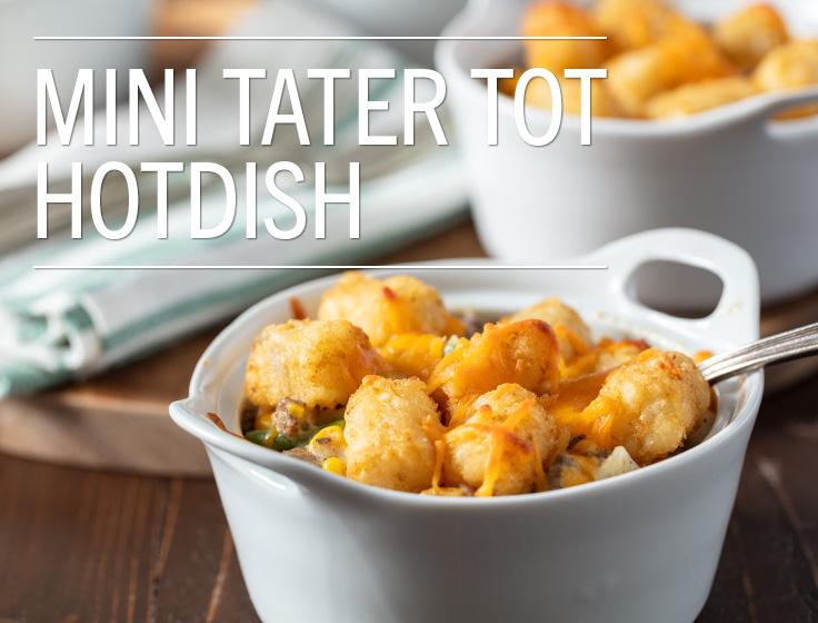 Mini Tater Tot Hotdish