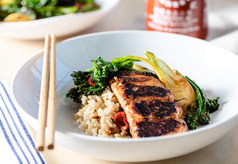 Teriyaki Salmon & Grain Bowl