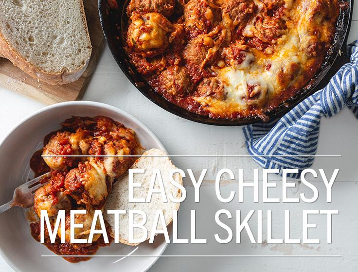 Cheesy Meatball Skillet