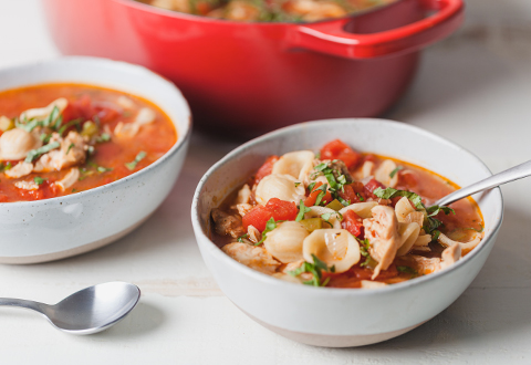Slow Cooker Chicken Cacciatore Soup