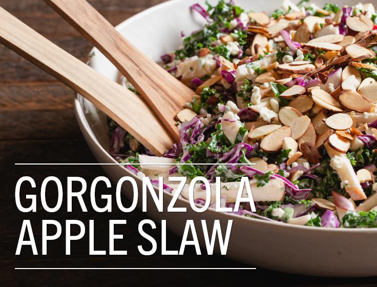Gorgonzola Apple Slaw