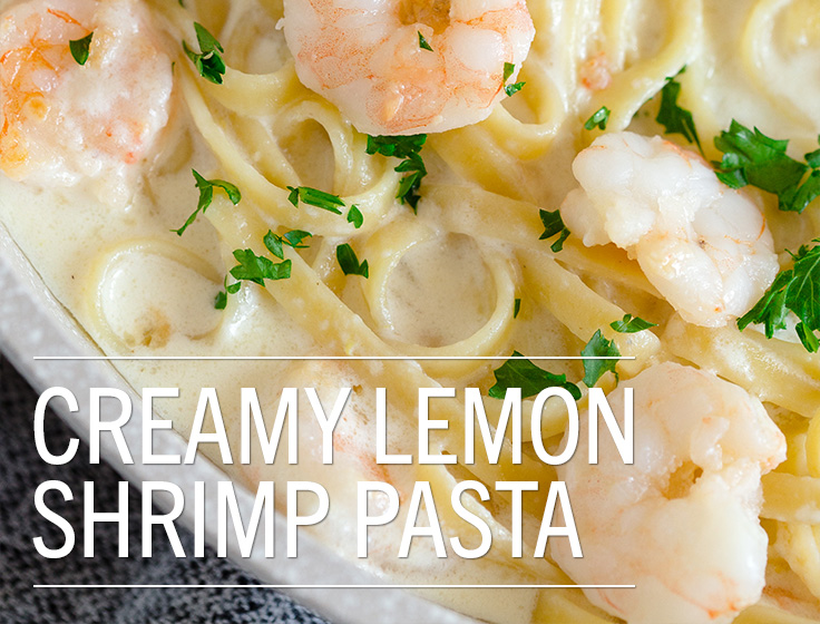 Creamy Lemon Shrimp Pasta