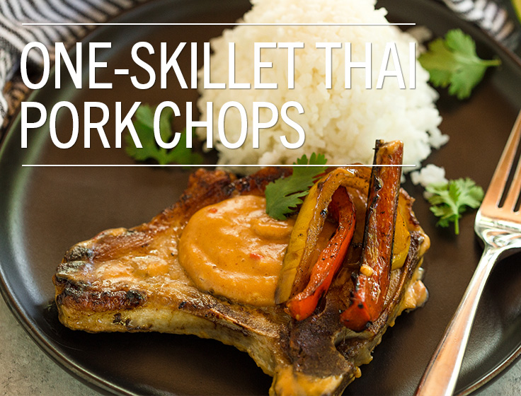 One-Skillet Thai Pork Chops