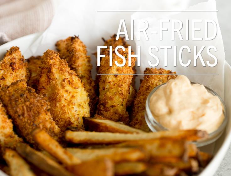 Air-Fried Fish Sticks