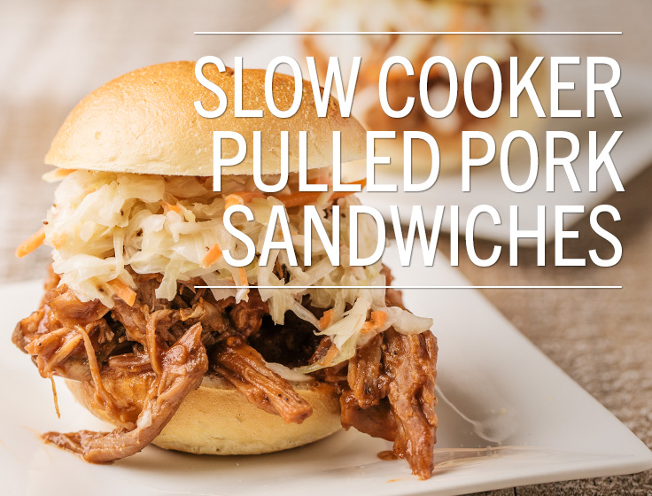 Slow Cooker Pulled Pork Sandwiches