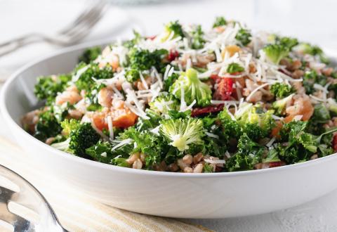 Farrout Broccoli Kale Salad