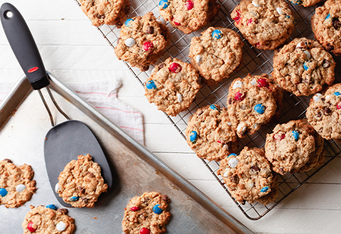 Red, White & Blue Monster Cookies