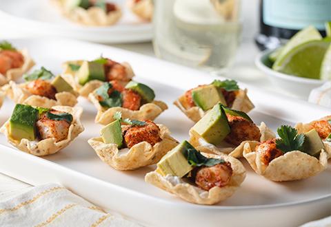 Shrimp Taco Bites + Prosecco