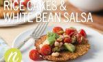 Rice Cakes & White Bean Salsa