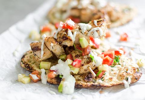 Grilled Chicken Gyros