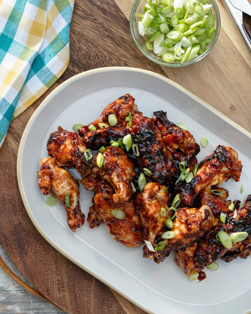Grilled Korean BBQ Sticky Wings