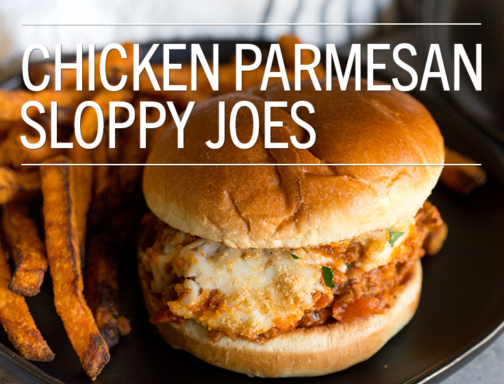 Chicken Parmesan Sloppy Joes