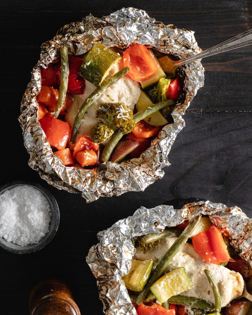 Foil-Pack Grilled Chicken & Veggies