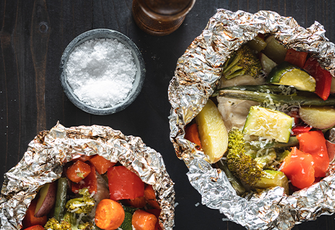 Foil-Pack Grilled Chicken & Veggies