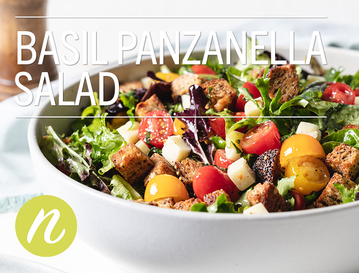 Basil Panzanella Salad