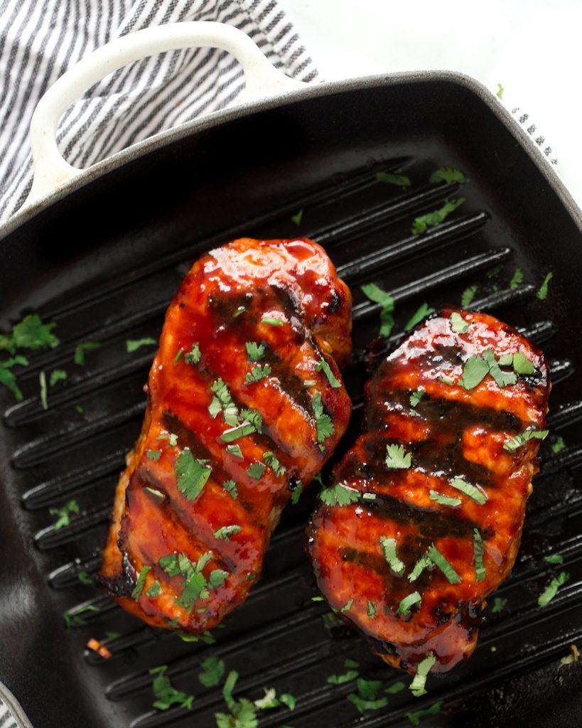 Korean Glazed Pork Chops