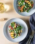 Grilled Peach & Arugula Salad