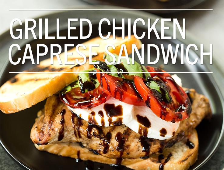 Grilled Chicken Caprese Sandwich