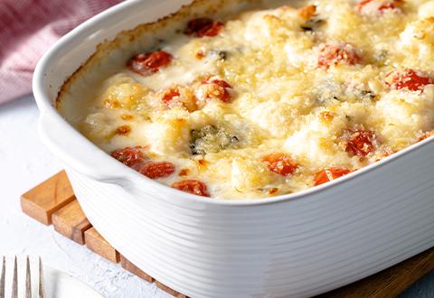 Cheddar Roasted Cauliflower