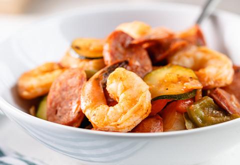 Shrimp & Sausage Skillet