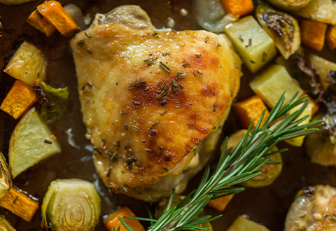 Rosemary Chicken & Fall Vegetables