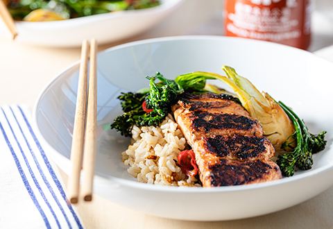 Teriyaki Salmon & Grain Bowl