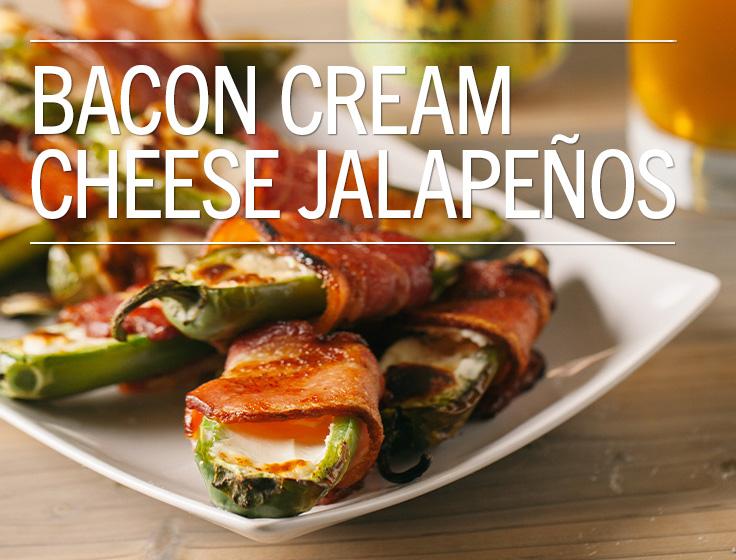 Brown Sugar Bacon Wrapped Cream Cheese Stuffed Jalapeños