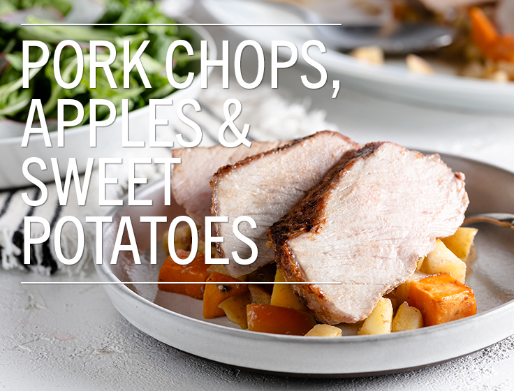 Pork Chops with Apples & Sweet Potatoes