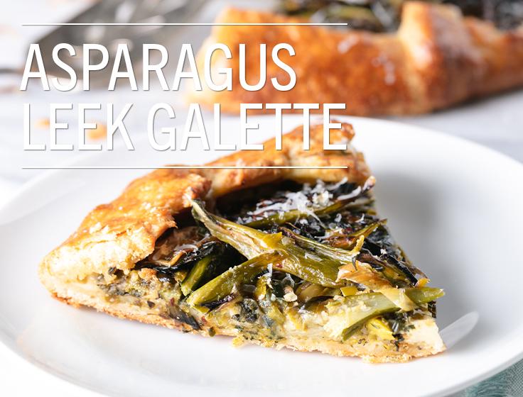 Asparagus Leek Galette