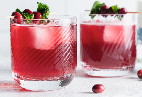 Cranberry Green Tea Mocktail